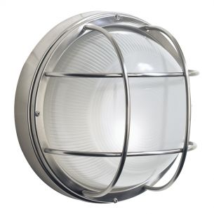 Salcombe Large Round Steel Wall Light IP44