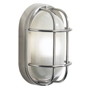 Salcombe Small Oval Steel Wall Light IP44