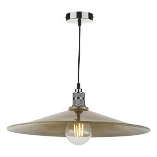 Saucer Easy Fit Pendant Large Antique Brass