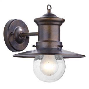 Sedgewick 1 Light Lantern Bronze Down Facing IP44