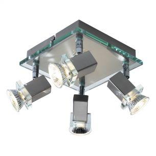 Spirit 4 Light Plate Satin Chrome