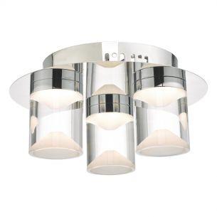 Susa 3lt Flush Polished Chrome & Acrylic LED Bathroom IP44