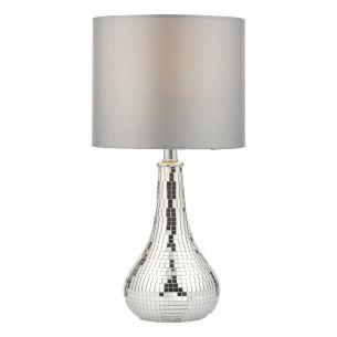 Tezu Table Lamp Mirror C/W Shade