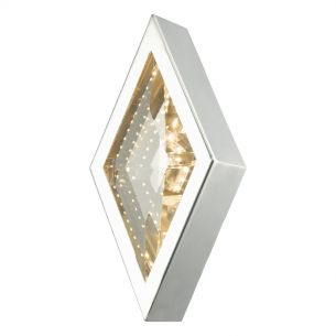 Vaeda Wall Light Polished Chrome & Crystal LED