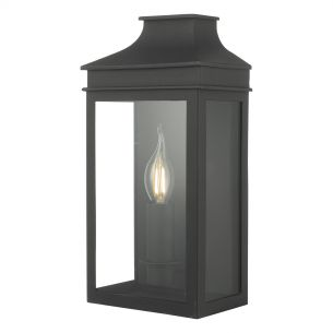Vapour Couch Lantern Wall Light Black IP44