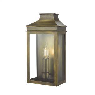 Vapour Coach Lantern Wall Light Weathered Brass IP44