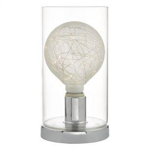Vatiki Table Lamp Polished Chrome & Glass