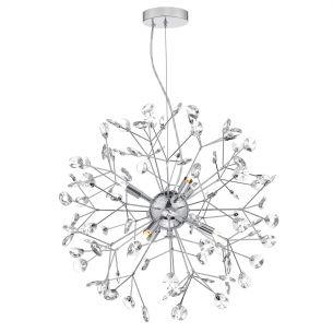 Vivien 6 Light Sputnik Pendant Polished Chrome/ Clear