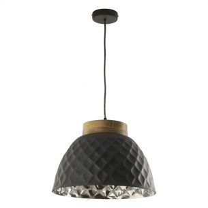 Wazir Pendant Grey and Mango Wood