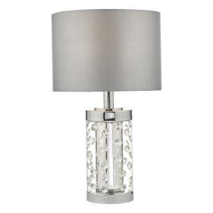 Yalena Table Lamp Small Pol Chr & Crystal C/W Shade