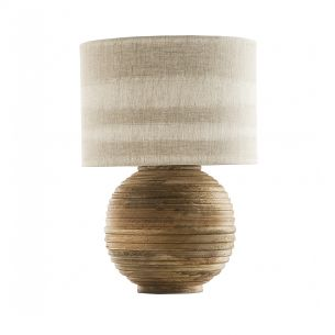 Yurt Table Lamp Wood Base Only