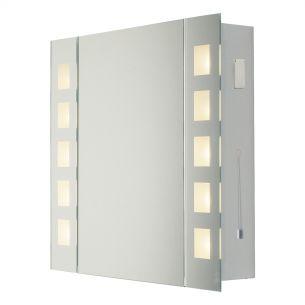 Zenia Mirrored Bathroom Cabinet complete with Shaver Socket IP44