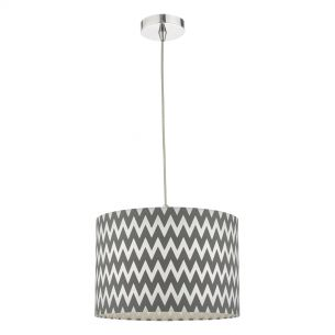 Ziggy Easy Fit Pendant Grey and White