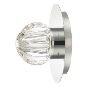 Zondra Wall Light Polished Chrome & Glass LED Bathroom IP44