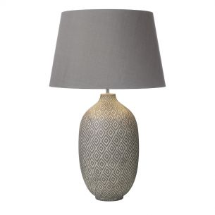 Ceyda Table Lamp Ceramic & Grey Base Only