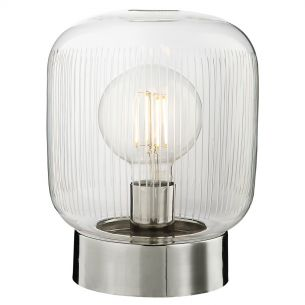 Nuella Table Lamp Polished Nickel & Etched Glass