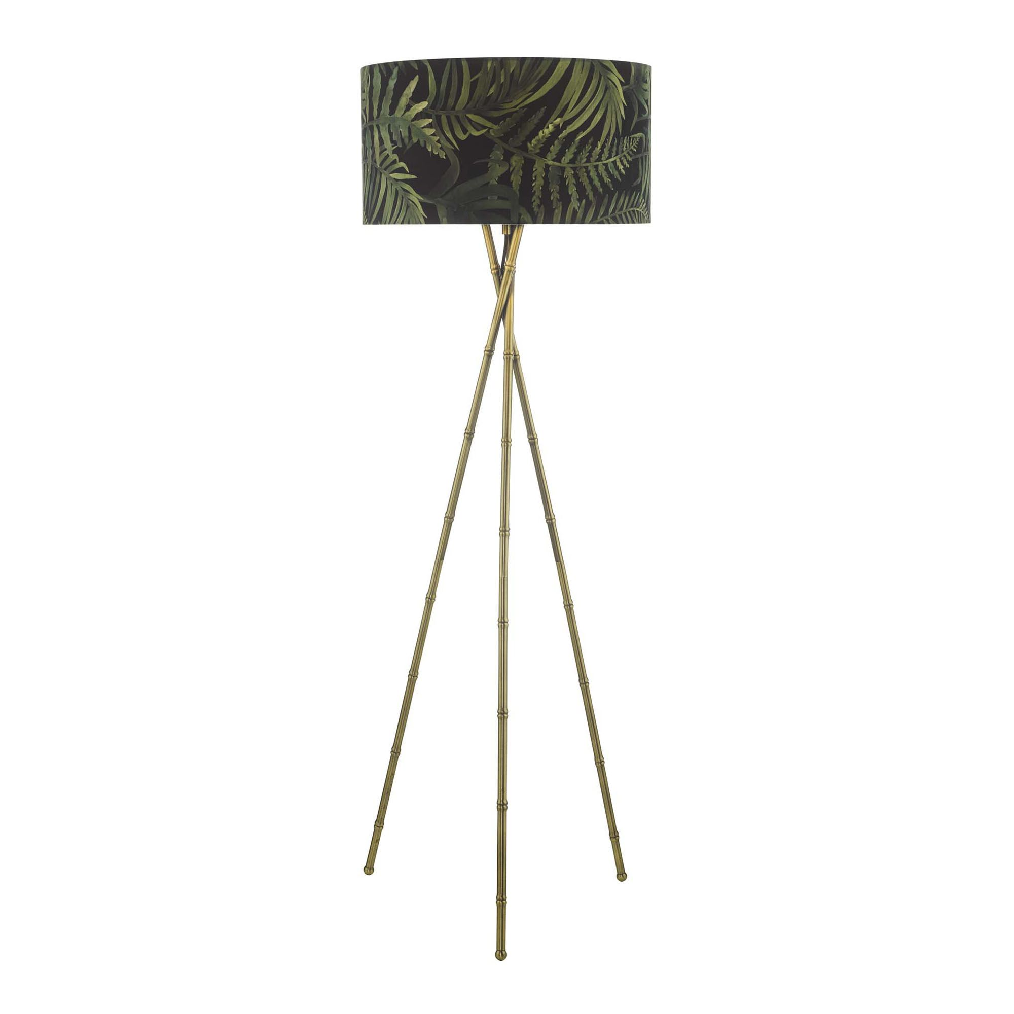 Bamboo Floor Lamp Antique Brass Base Only