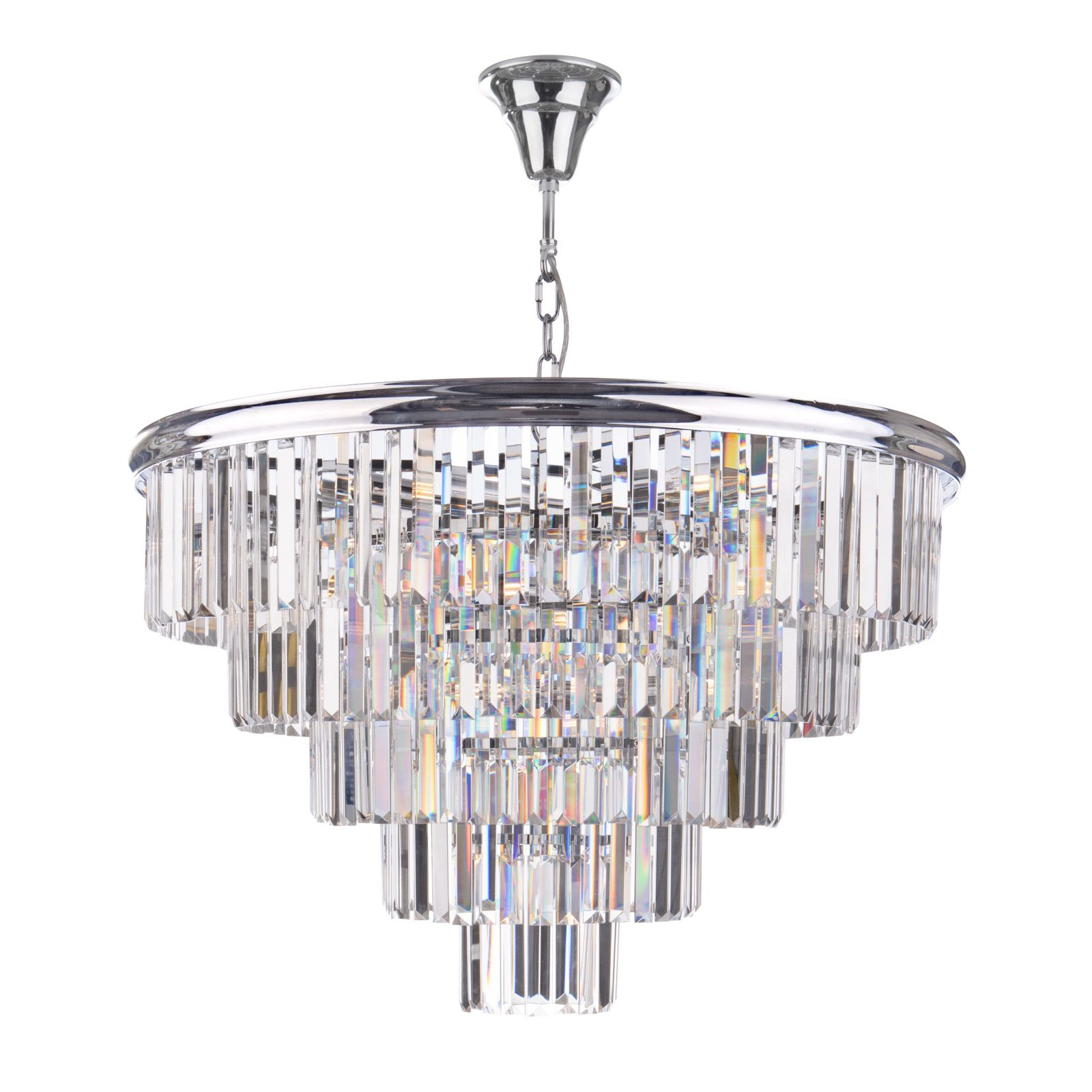 KYLO 6 Light Gold Chandelier with Clear Glass