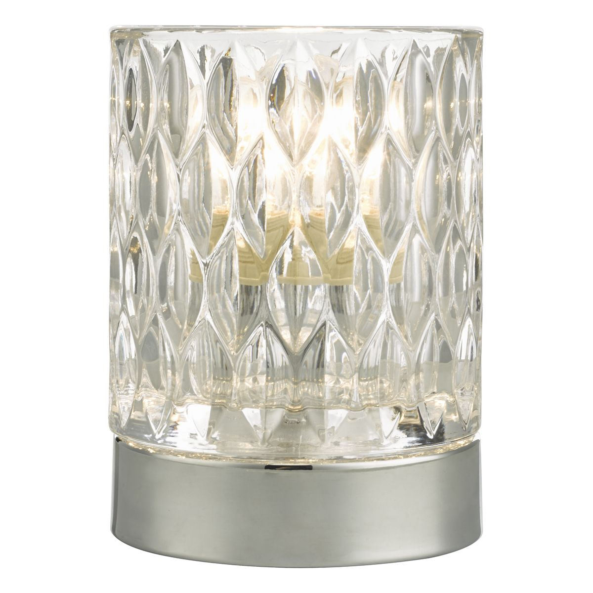 Jill Touch Table Lamp Pol Chr Glass