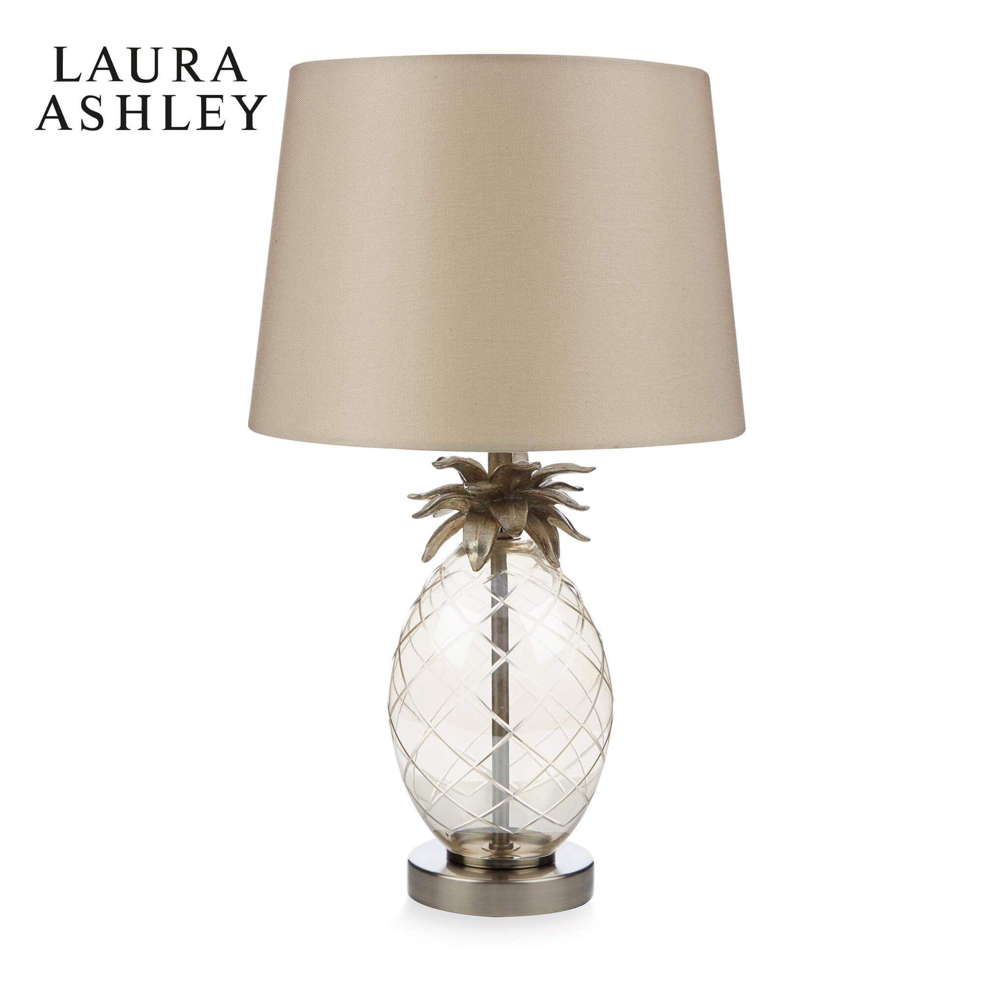 Laura Ashley Pineapple Small Table Lamp Glass With Shade