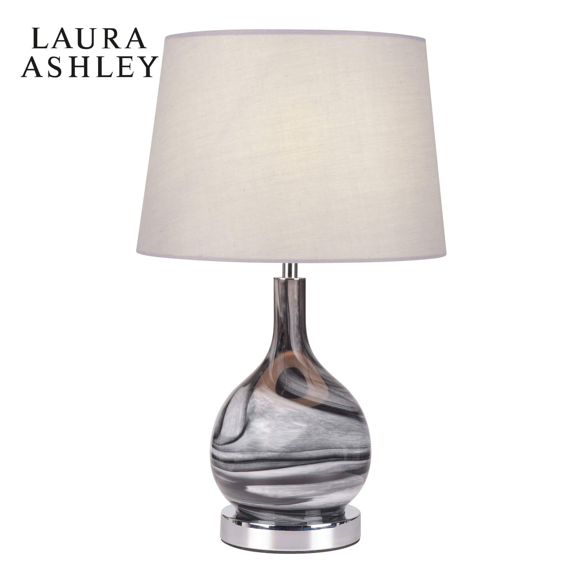 Laura Ashley Swirl Table Lamp Grey