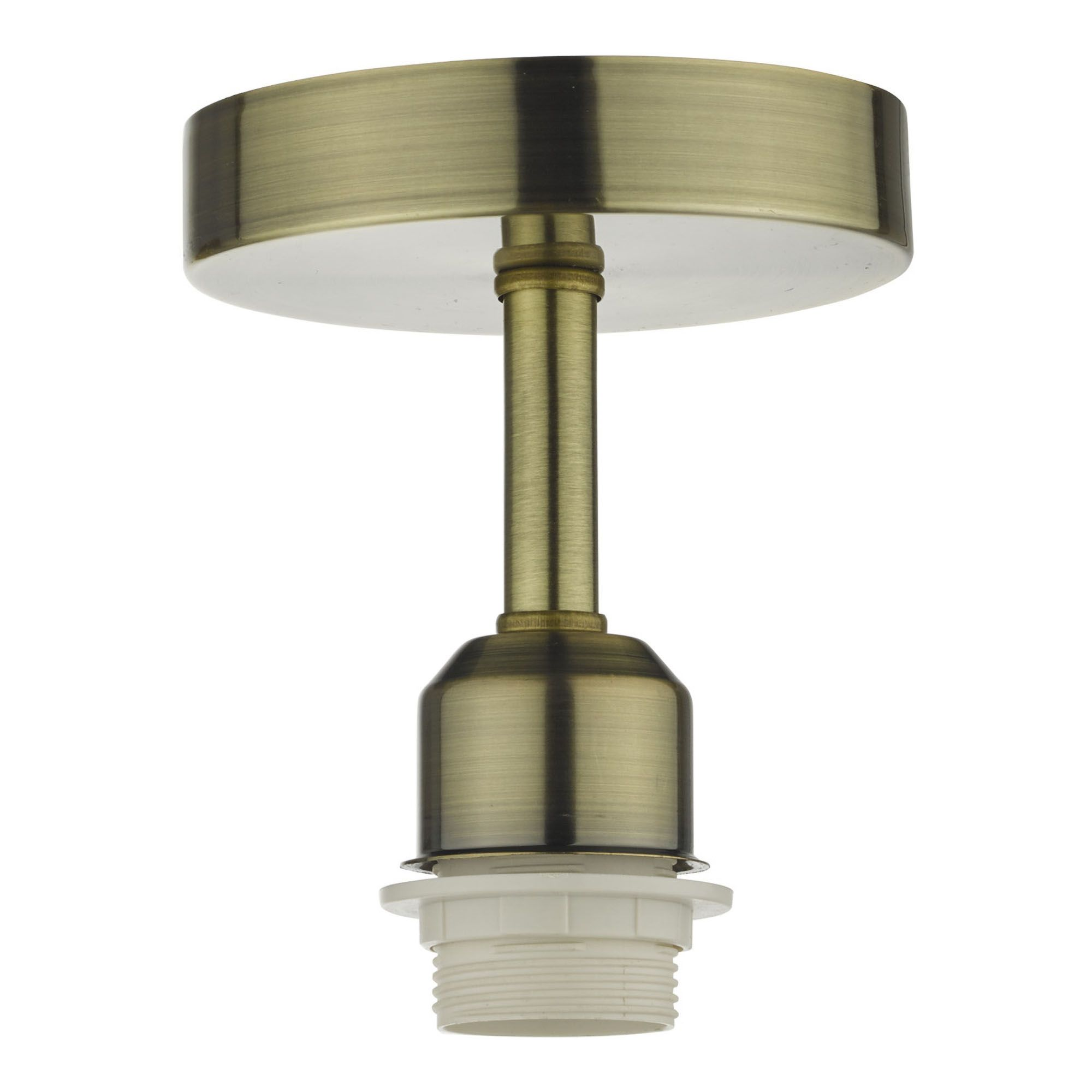 Accessory 1 Light Semi Flush Suspension Antique Brass