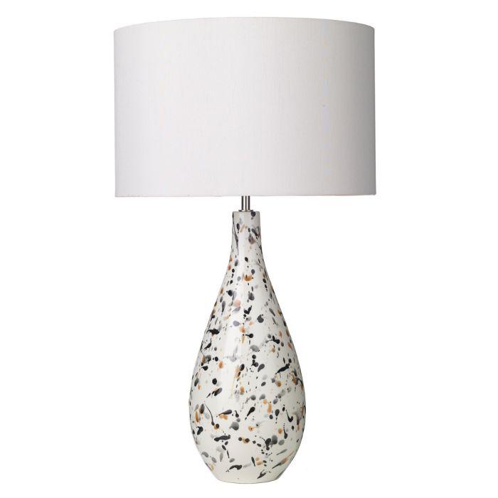 Olka Table Lamp Ceramic Brown Base Only