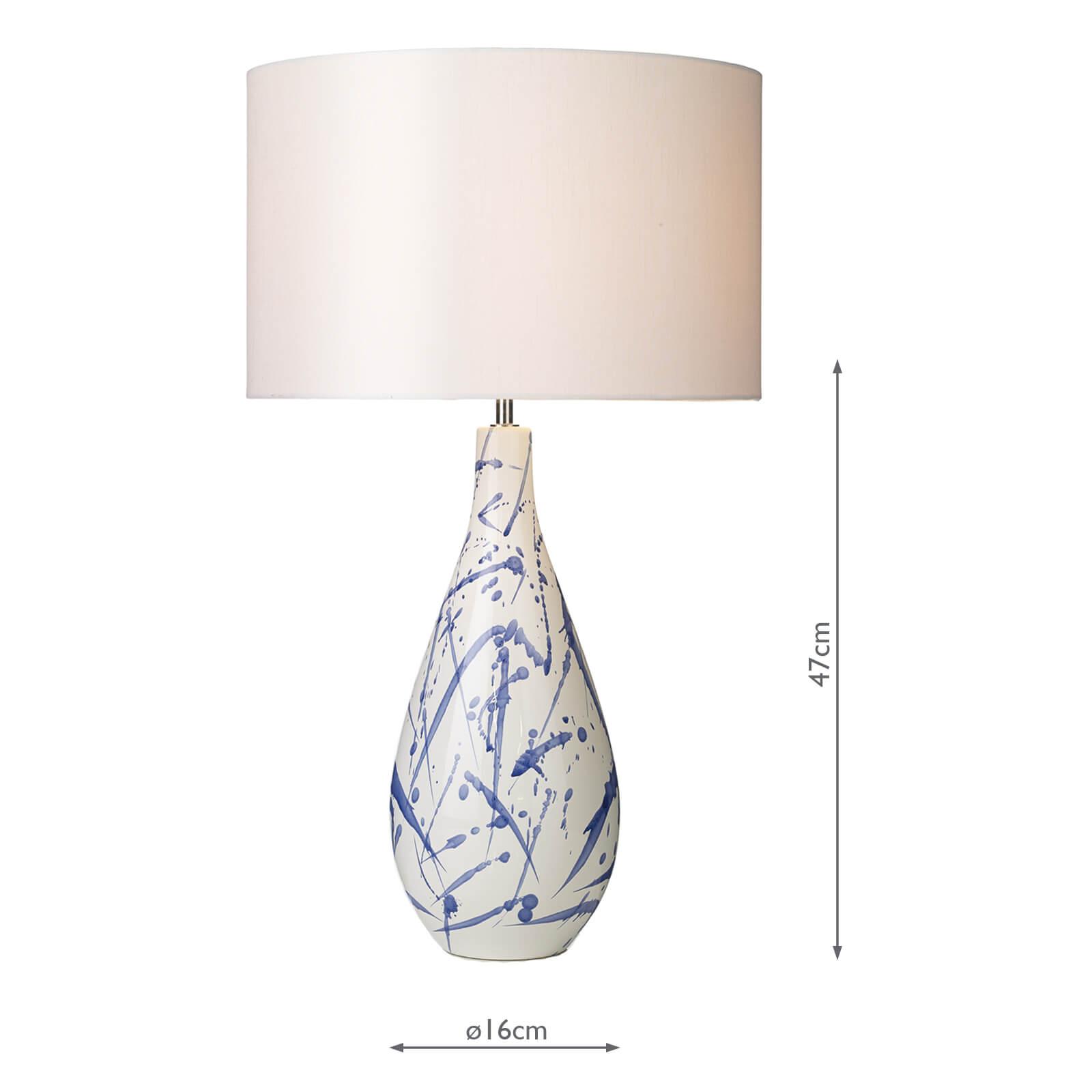Olka Table Lamp Ceramic Blue Base Only